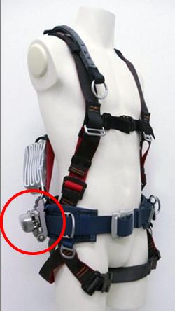 フルハーネス型脱落防止器具キーロック締結
