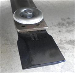乗用草刈機のフリーナイフ  ゆるみ箇所:フリーナイフの取付け箇所