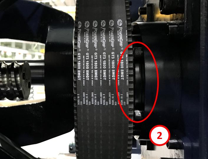 射出成型機 ゆるみ箇所:ボールねじ締結部 (型締、押出、ノズルタッチ、射出、プーリ)