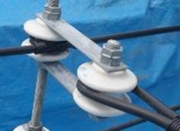 低圧配電線の中間分岐 緩み箇所: 抱きボルト及び低圧引留め碍子(がいし)の締結箇所